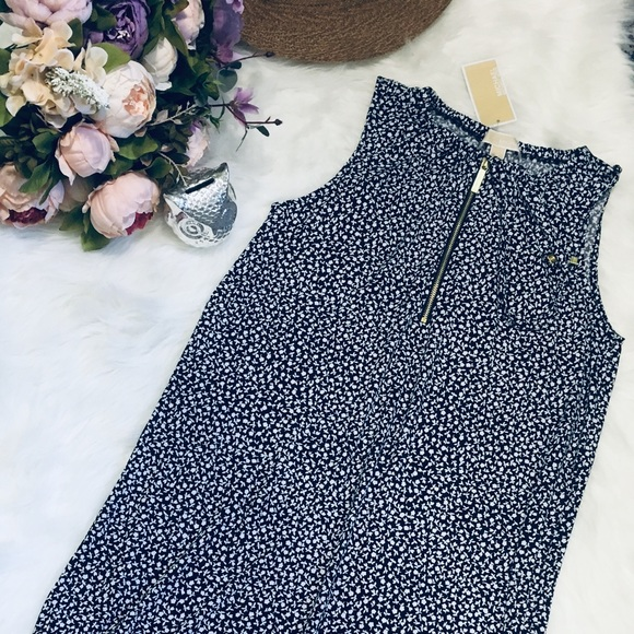 Michael Kors Dresses & Skirts - 💥MICHAEL KORS💥Floral Dress in Navy Blue